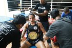 female muay thai champion Aurore Lz from Phuket Top Team