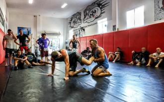 Vitaly Bigdash putting in work together with James Vick at
